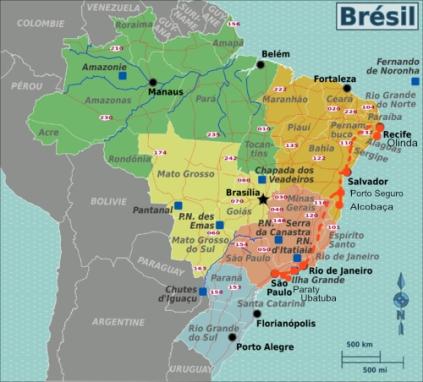 Sao Paulo Bresil Carte
